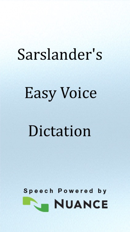 Easy Voice Dictation