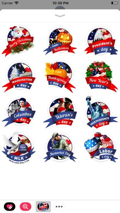 Holidays USA StickerPack screenshot 1