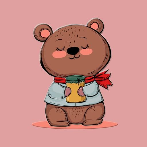 Sweet Honey Bear Stickers