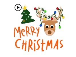 Animated Merry Christmas Gift