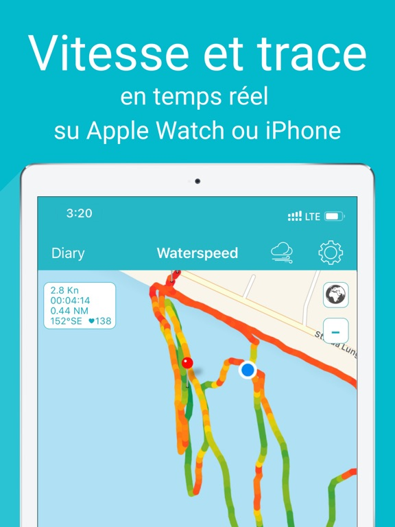 Screenshot #4 pour Waterspeed Voile, SUP,Surf GPS
