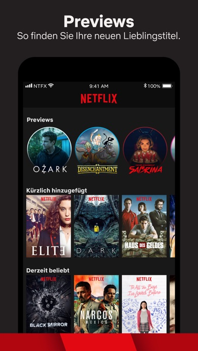 Screenshot for Netflix in Germany App Store