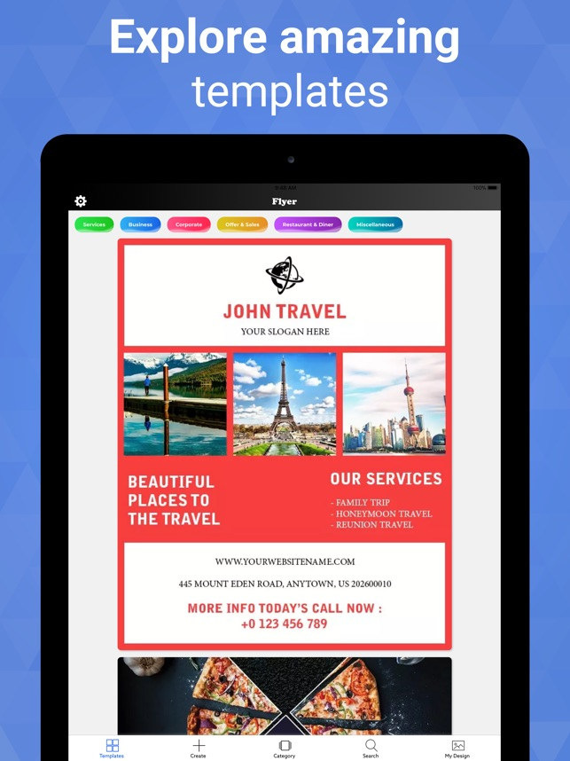 Flyer Maker Graphic Design On The App Store