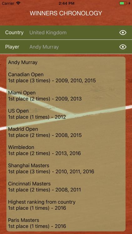 World Tennis Winners: Open Era screenshot-6