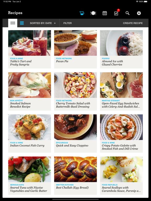 Recipe, Menu & Cooking Planner screenshot