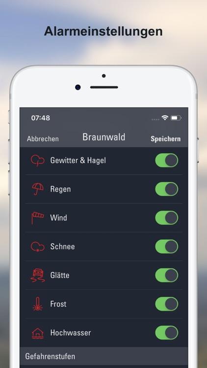 Wettervorhersagen Schweiz screenshot-4