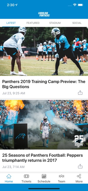 online store 33b1e 41ad5 Carolina Panthers Mobile on the App Store