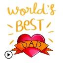 Happy Fathers Day Sticker Gifs