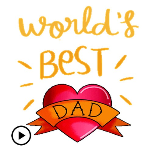 Happy Fathers Day Sticker Gifs