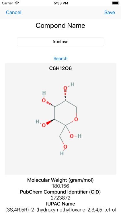 Search PubChem screenshot-3