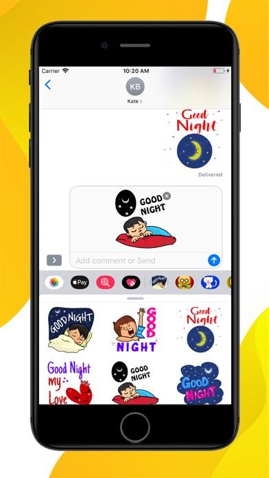 Good Night Sweet Stickers screenshot 3