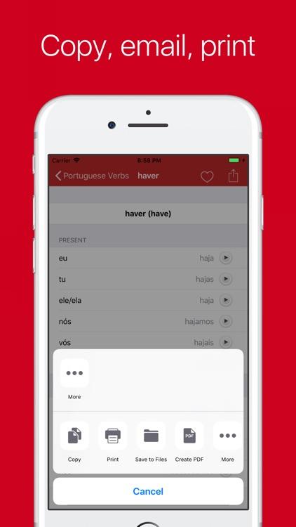 Portuguese Verb Conjugator Pro screenshot-3