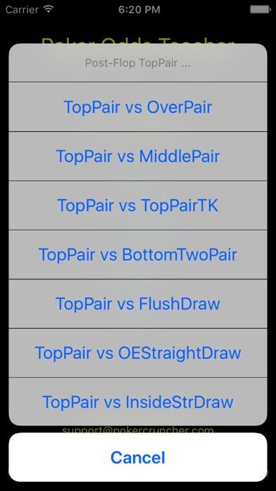 Poker Odds Teacher screenshot1