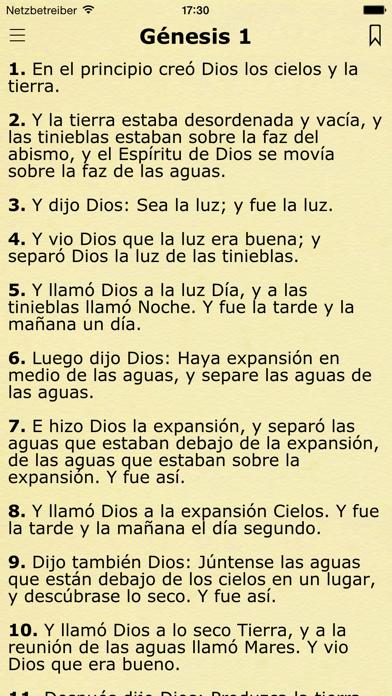 La Biblia Reina Valera Español screenshot one
