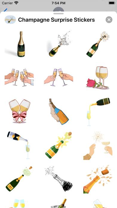 Champagne Surprise Stickers screenshot 1