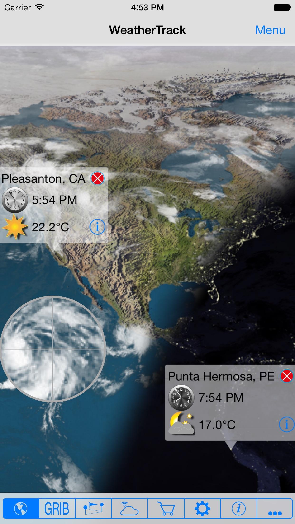 WeatherTrack GRIB Screenshot