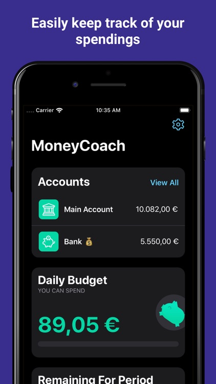 MoneyCoach - Budget Manager