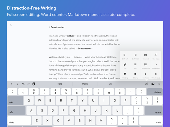 Screenshot #5 pour iWriter Pro