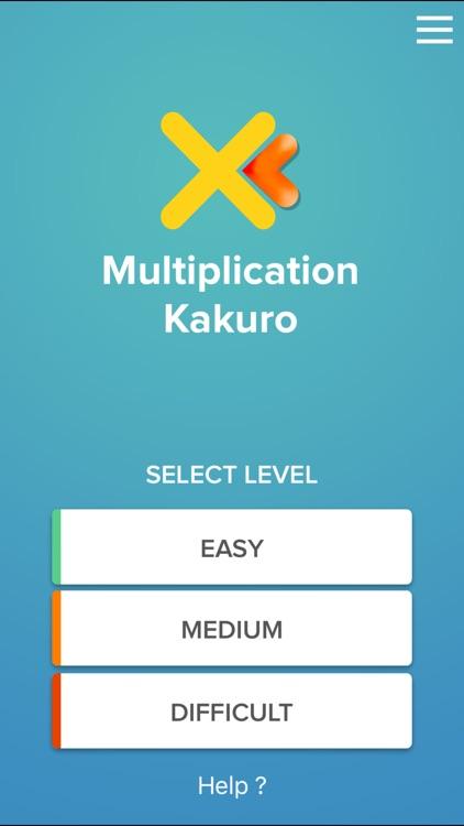 Multiplication Kakuro puzzle