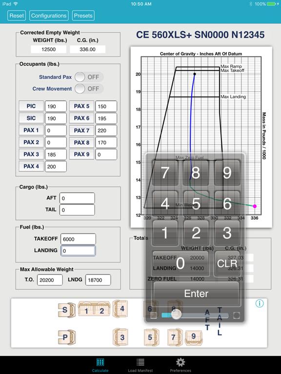 iFly Weight and Balance screenshot