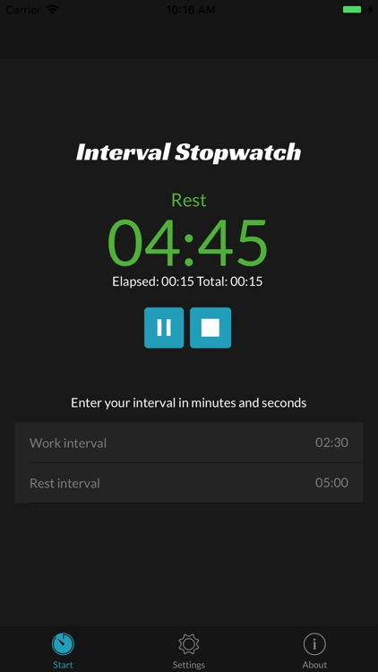 Interval Stopwatch Timer screenshot-0