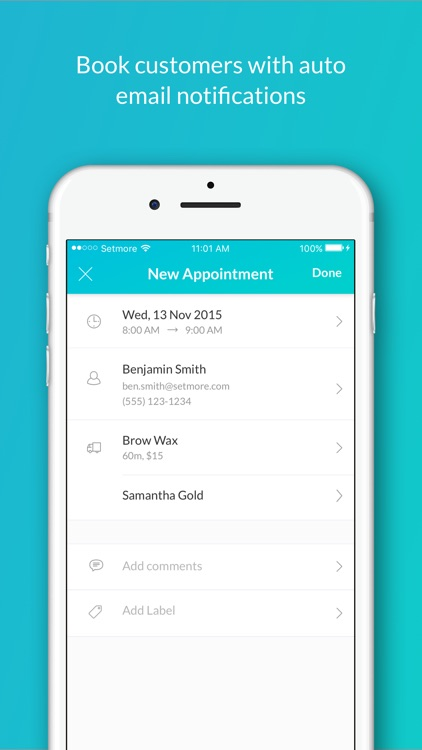 Setmore Appointment Scheduling
