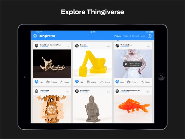 MakerBot on the App Store