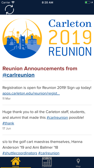screenshot # 1 pour Carleton reunion