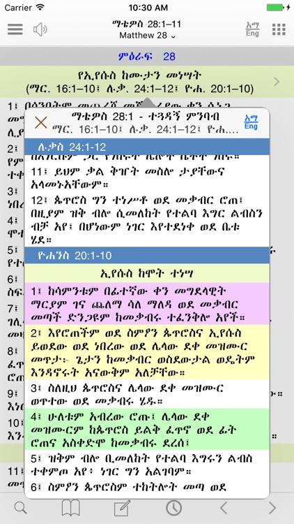 Amharic Study Bible with Audio