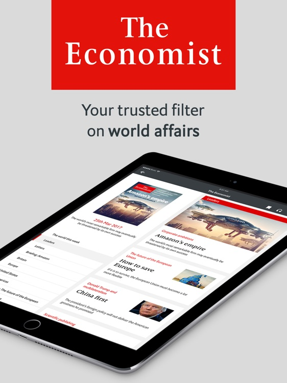 The Economist weekly US iPad
