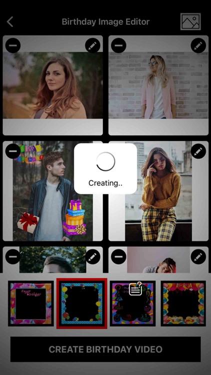 Birthday Image to Video Maker screenshot-3