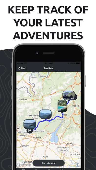 calimoto Motorcycle Routes Screenshot