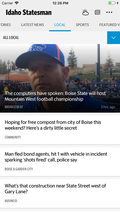 Idaho Statesman News Screenshot