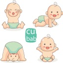 Cute Babies Stickers Baby Moji