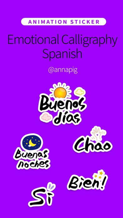 Emotional Calligraphy Spanish screenshot 1