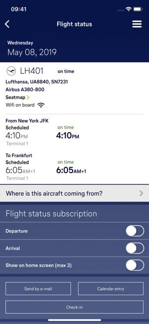 Flight aansluiting app aansluiting opruiming badge
