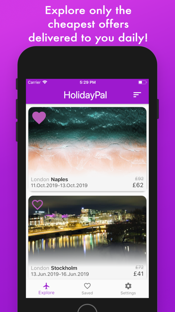 Holiday Pal: Best Flight Deals App for iPhone - Free