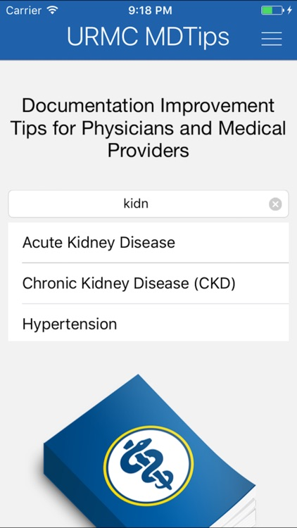 URMC MDtips screenshot-2