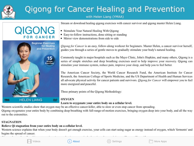 Qigong for Cancer (YMAA) on the App Store