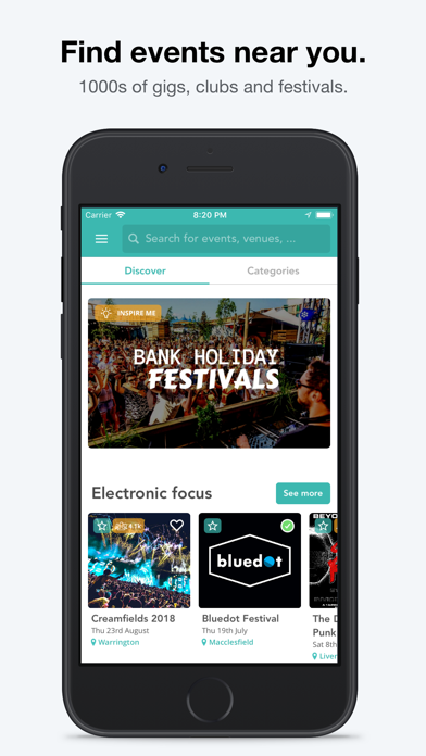 Screenshot #1 pour Skiddle: Events and Tickets
