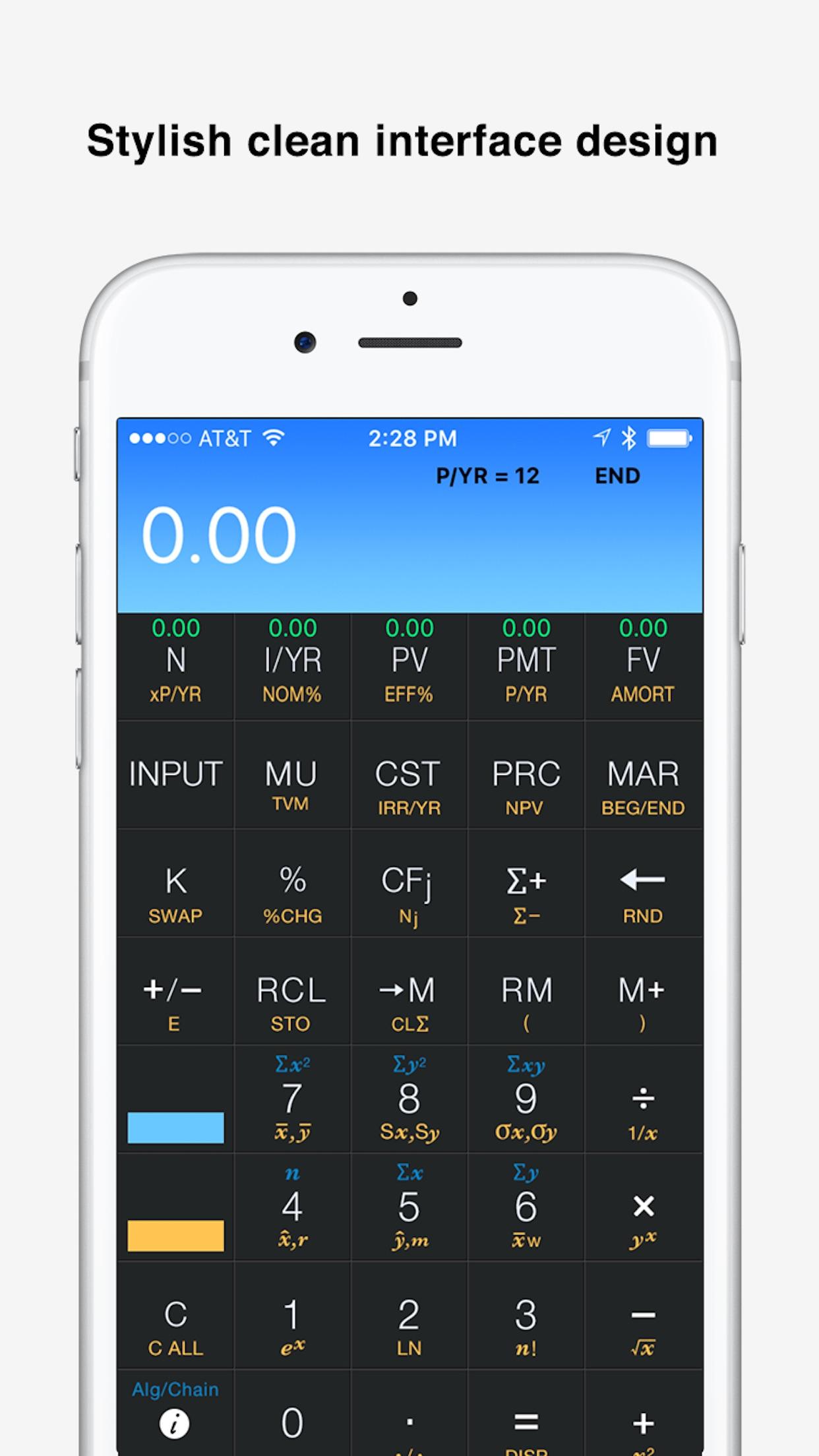 10bii+ Financial Calculator Screenshot