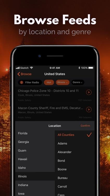 Police Scanner, Fire Radio screenshot-4