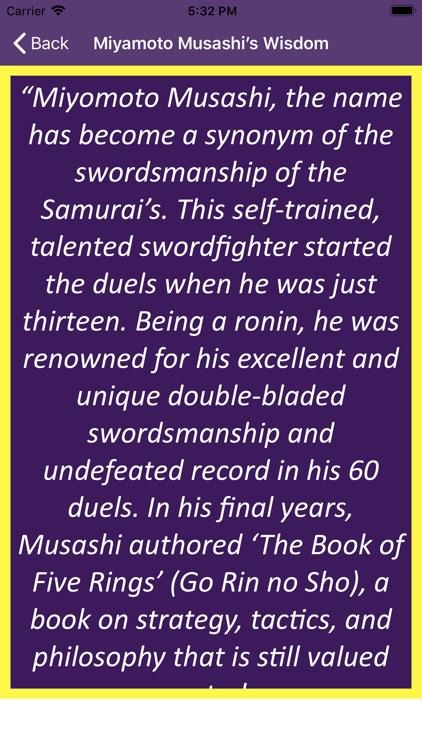 Miyamoto Musashi's Wisdom screenshot-4