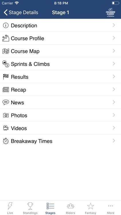 Colorado Classic Tour Tracker screenshot-5