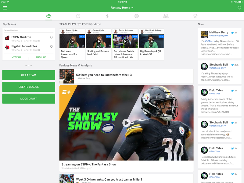 ESPN Fantasy Football截图4