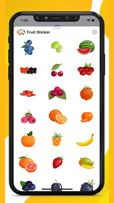 Fruit Delicious Stickers screenshot 1