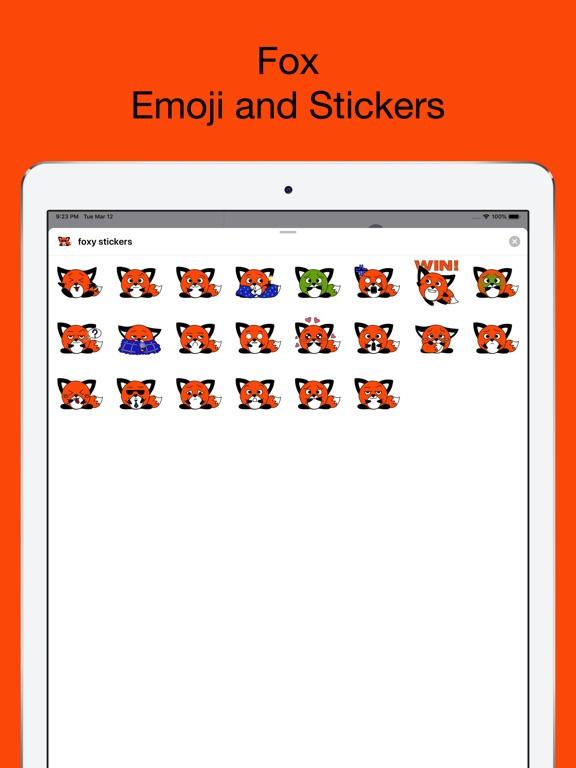 Foxy fox - emoji stickers pack screenshot 6