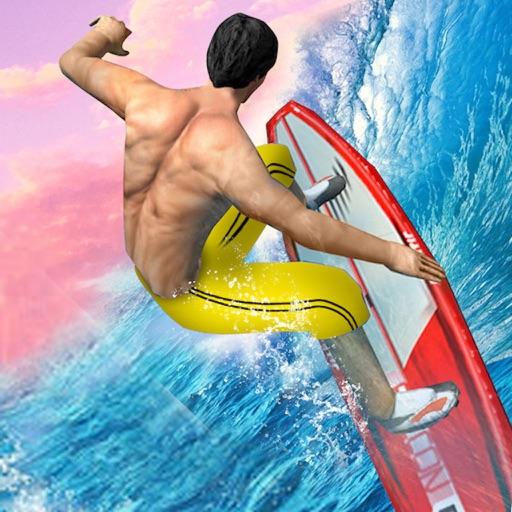 Flip Surfing Diving Stunt Race
