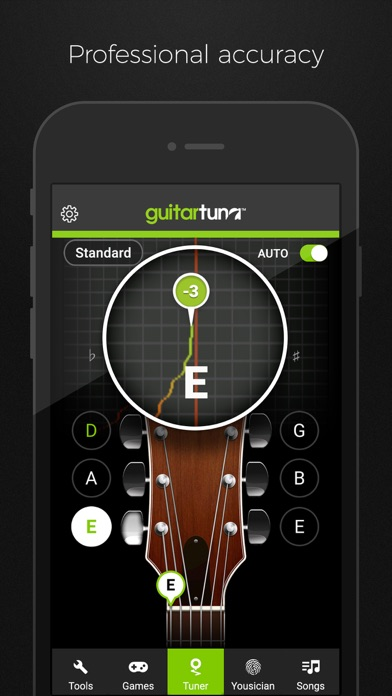 GuitarTuna: Guitar, Bass tuner Screenshot