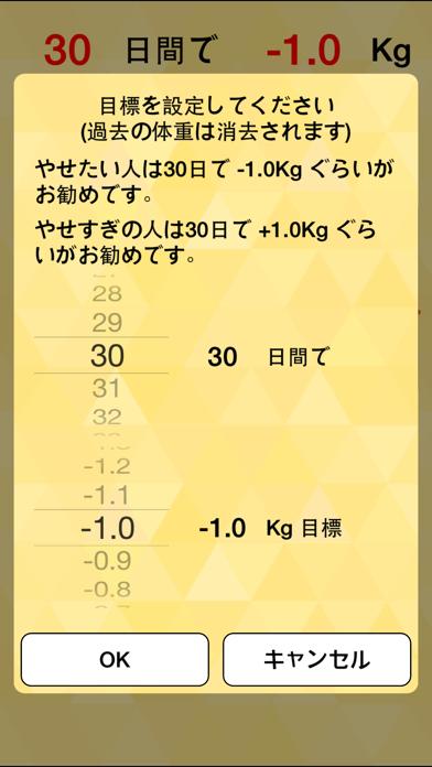 朝はかるだけダイエット 赤い目標線で体重管理のおすすめ画像2